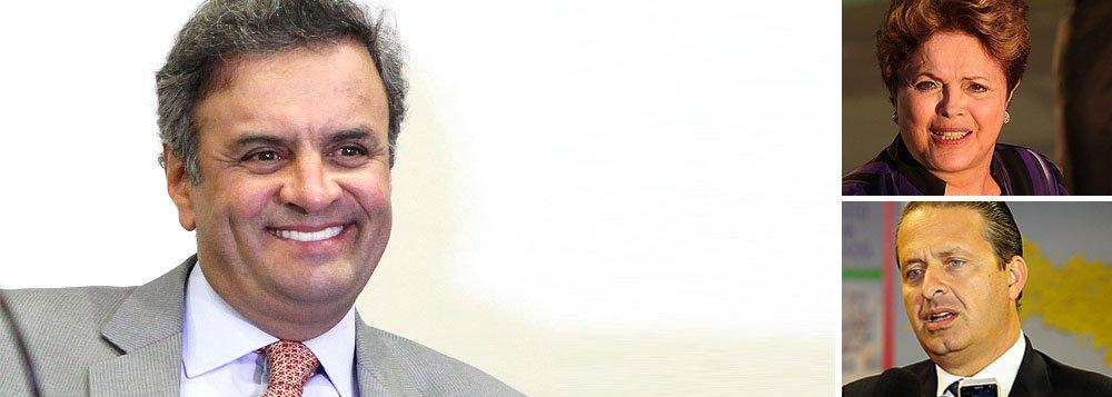 Na consulta estimulada, realizada entre 24 e 30 de maio, com 3 mil eleitores, presidenciável tucano Aécio Neves lidera 24,5% dos votos, enquanto a presidente Dilma Rousseff (PT) ocupa a segunda posição, com 18,9%, e o ex-governador Eduardo Campos aparece (PSB) aparece em terceiro, com 10%; o pastor Everaldo (PSC) soma 2,9%; o senador Randolfe Rodrigues (PSOL), 1,9%; e o ex-deputado Eduardo Jorge (PV), 0,8%