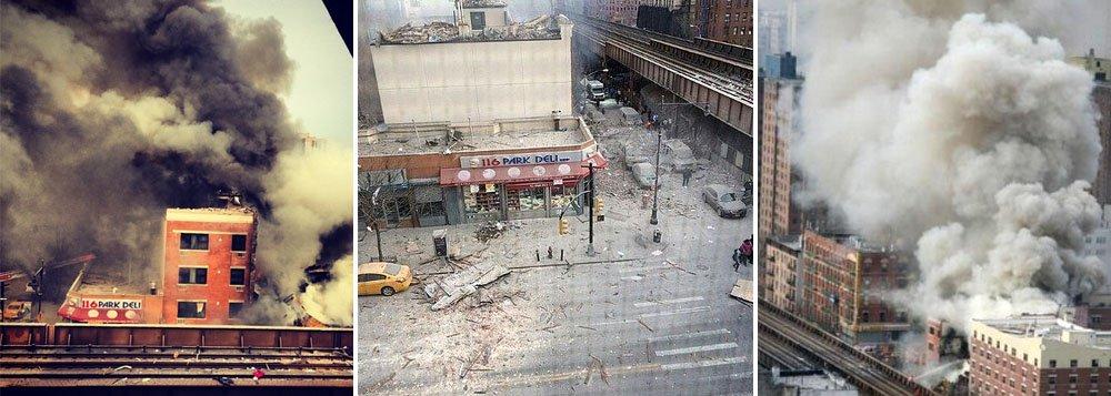 Os bombeiros faziam buscas na área onde se localiza o edifício em East Harlem, em Manhattan, em busca de eventuais pessoas presas nos escombros; causa ainda é desconhecida; pelo menos 40 equipes do Corpo de Bombeiros de Nova York foram mobilizadas