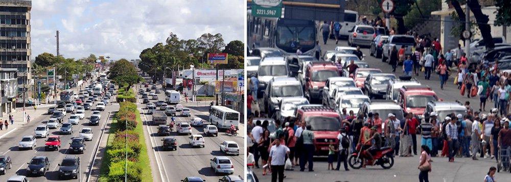 Os taxistas que trabalham em Maceió e nas cidades do interior de Alagoas realizam um protesto nas vias da capital e em frente ao prédio onde funciona a Agência Reguladora de Serviços de Alagoas (Arsal). Eles reclamam que a Agência tem apreendido veículos que trazem passageiros do interior. Os taxistas exigem o agendamento de uma reunião com representantes do governo do Estado para que as reivindicações sejam discutidas
