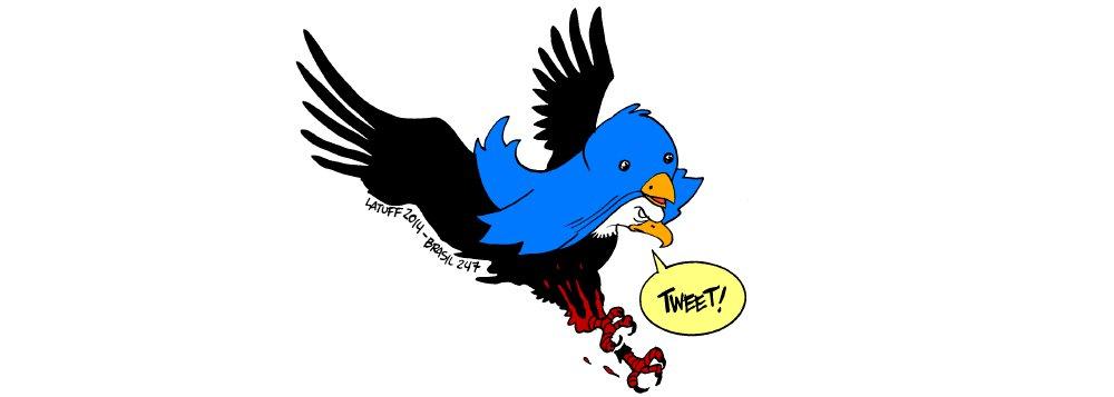 Chargista Carlos Latuff, em sua mais nova ilustração para o Brasil 247, trata da entrada da CIA nas redes sociais; a agência, que por muito tempo monitorou e espionou as redes sociais para descobrir tendências globais e perseguir malfeitores, abriu oficialmente na sexta-feira (6) contas no Twitter e no Facebook