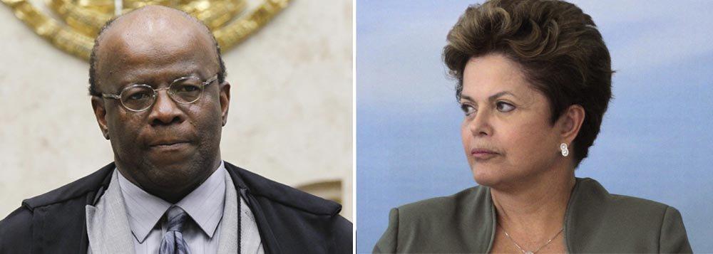 Na última vez que conversou com a presidente por telefone, o ministro do STF informou que ficará no cargo até o final deste semestre, o que o impede de disputar as eleições deste ano; para concorrer a um cargo eletivo, Barbosa teria que deixar função até o dia 5 de abril; segundo integrantes do STF, prazo que o ministro se deu é para poder julgar também o mensalão do PSDB; presidente do STF teria dito a Dilma que quer se dedicar a uma fundação; reação raivosa dele nesta quinta contra derrota no julgamento dos embargos é senha de que mudará de posição?