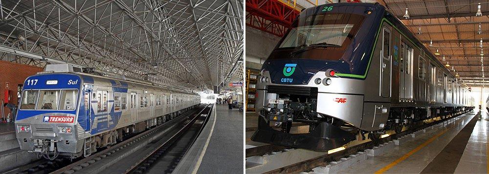 Documentos apontam suspeita de corrupção em licitações da CBTU (Companhia Brasileira de Trens Urbano), para o metrô de Belo Horizonte, no valor de R$ 172 milhões, e da Trensurb, de Porto Alegre, com custo de R$ 243 milhões, ambas em 2012 e vinculadas ao Ministério das Cidades; esquema denunciado pela Siemens incluiu empresas como a Alstom, a espanhola CAF, a japonesa Mitsui e a canadense Bombardier; em SP, investigações indicam pagamento de propina em administrações tucanas, desde a gestão de Mario Covas (1998)