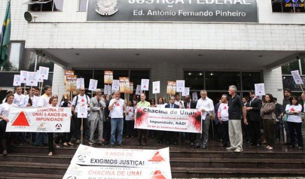 Apesar o adiamento, o Judiciário mineiro determinou a prisão dos reús; a chacina ocorreu em novembro de 2004 e terminou com morte de cinco trabalhadores rurais