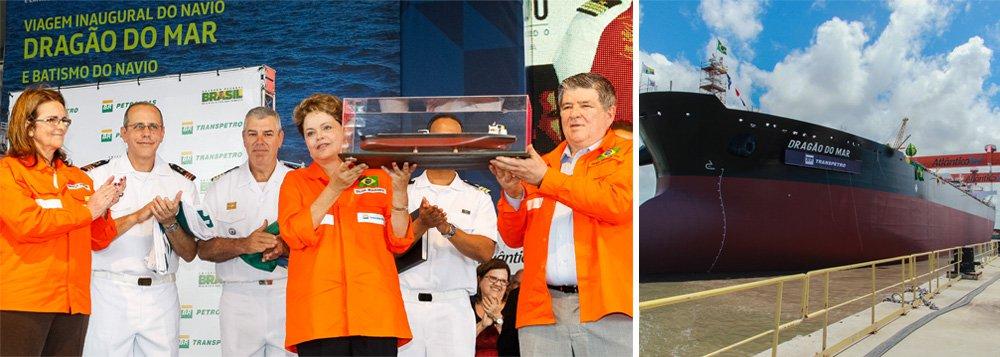 """Em discurso em Pernambuco, em cerimônia alusiva à viagem inaugural do navio Dragão do Mar e do batismo do navio Henrique Dias, no Estaleiro Atlântico Sul, em Ipojuca, presidente da Petrobras destacou bons números da estatal e pediu aos petroleiros: """"Nesse momento, preciso muito da energia de todos vocês""""; Graça Foster apareceu em público pela primeira vez nesta segunda-feira, ao lado da presidente Dilma Rousseff, depois da onda de denúncias contra a estatal, alvo de disputa por CPI no Congresso"""