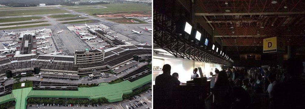 De acordo com a concessionária GRU Airport, os sistemas prejudicados entre as 21h50 e as 22h10 resultaram na alteração de apenas um voo, que foi transferido; aeroporto recebe, por ano, mais de 36 milhões de passageiros e opera com 284 mil pousos e decolagens