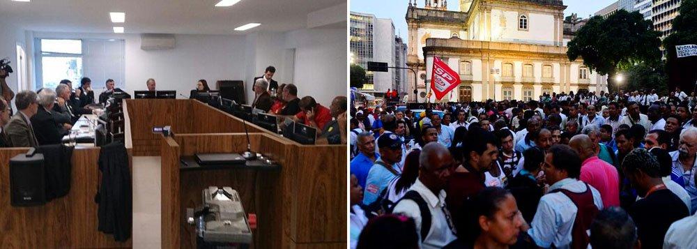 O Tribunal Regional do Trabalho do Rio de Janeiro (TRT-RJ) considerou ilegal a greve dos rodoviários do município do Rio e manteve multa ao Sindicato Municipal dos Empregados de Empresas de Transporte Urbano (Sintraturb) de R$ 50 mil por dia parado; com a decisão, os trabalhadores poderão ter os dias de greve descontados do salário