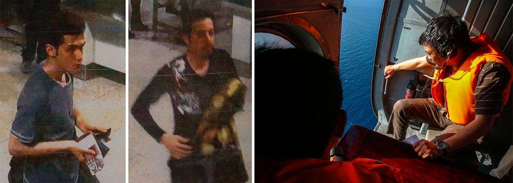 """""""Quanto mais informações obtemos, mais inclinados estamos a concluir que não se trata de um incidente terrorista"""", disse o secretário-geral da Interpol, Ronald Noble; segundo ele,dois passageiros iranianos usaram passaportes italiano e austríaco roubados para embarcar no avião desaparecido namadrugada de sábado com 239 pessoas a bordo; o voo MH370 fazia a rota Kuala Lumpur a Pequim, na China"""