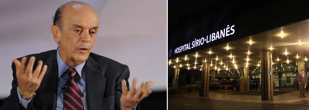 Ex-governador estava internado desde a quarta-feira 16; José Serra passou por tratamento na unidade de combate de bactérias no sangue; médico Roberto Kalil Filho confirmou a alta