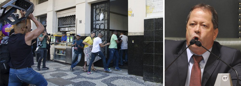 Presidente da CPI dos Ônibus, vereador Chiquinho Brazão (PMDB) deixava o prédio pela saída lateral, na Rua Alcindo Guanabara, na Cinelândia, quando os manifestantes e os seguranças do parlamentar se enfrentaram; das 11 pessoas encaminhadas à delegacia, nove foram classificadas como vítimas pelo crime de ameaça (ameaça recíproca); os envolvidos foram liberados