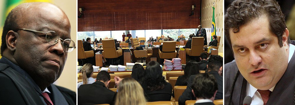 """Novo regimento interno decide transferir para as turmas da Corte, compostas por cinco ministros, processos envolvendo parlamentares; com isso, sessões deixarão de ser transmitidas pela TV Justiça; para o advogado criminalista Luiz Fernando Pacheco, que representa o ex-deputado José Genoino, no processo da AP 470, medida é """"salutar"""" já que a """"transmissão das sessões desse tipo de julgamento pulula as paixões políticas e contamina a higidez dos julgamentos""""; no caso do chamado """"mensalão"""", presidente do STF, Joaquim Barbosa, ganhou projeção de popstar com seus ataques de fúria contra colegas"""