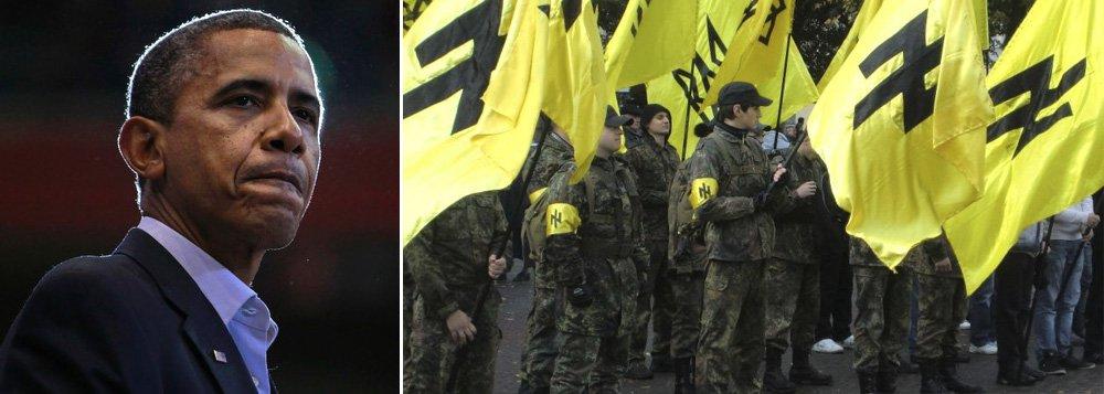 Entenda os riscos da ajuda dos Estados Unidos aos grupos neonazistas que derrubaram o presidente democraticamente eleito da Ucrânia, Viktor Yanukovych; segundo o New York Times, em 2004, o líder fascista do partido Svoboda, Oleh Tyahnybok, foi expulso da facção parlamentar do governo por conclamar os ucranianos a lutar contra o que chamou de máfia moscovita-judaica
