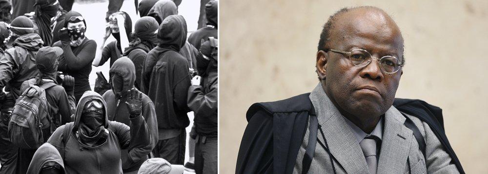 O colunista Tutty Vazques, do Estado de S. Paulo, comparou o presidente do Supremo Tribunal Federal, Joaquim Barbosa, aos manifestantes que têm botado pra quebrar nos protestos de rua pelo País