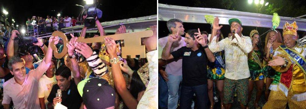 Conhecido como 'baladeiro de plantão', o prefeito ACM Neto (DEM) abriu o Carnaval de Salvador oficialmente na noite de quinta-feira com entrega de chave simbólica da cidade ao Rei Momo e fez coreografia da música Lepo Lepo, da banda Psirico, que é forte candidata para ganhar título de música da folia deste ano