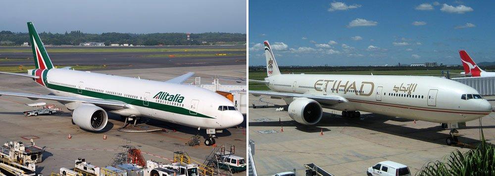 """A companhia aérea italiana Alitalia recebeu uma carta """"positiva"""" da Etihad Airways sobre os termos de uma proposta de fusão, afirmou o ministro dos Transportes da Itália, Maurizio Lupi, neste domingo"""