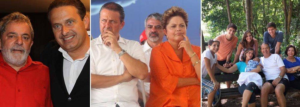 """Com residência transferida para São Paulo, de onde postou fotos com a família em seu Facebook, presidenciável do PSB diz que """"as pesquisas podem divergir em alguns aspectos, mas são unânimes em apontar o declínio do governo e o desejo maciço por uma mudança política""""; ele definiu que vai se apresentar ao eleitorado como um herdeiro do compromisso social do ex-presidente Lula, mas também como duro crítico da gestão do governo Dilma Rousseff; eleitorado vai compreender as duas faces de Eduardo Campos?"""