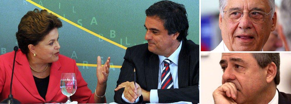 """Página do Partido dos Trabalhadores no Facebook, que usa a imagem da presidente Dilma Rousseff, defende a conduta do ministro José Eduardo Cardozo na polêmica do chamado propinoduto dos trens. """"Com a ajuda de certa mídia que lhe presta serviços diários, o PSDB tentou estabelecer uma discussão bizantina sobre a competência de o ministro da Justiça cumprir a lei!"""", diz o texto """"Gavetas vazias"""", que também critica os anos FHC, quando o procurador-geral, Geraldo Brindeiro, era chamado de """"engavetador-geral da República"""""""