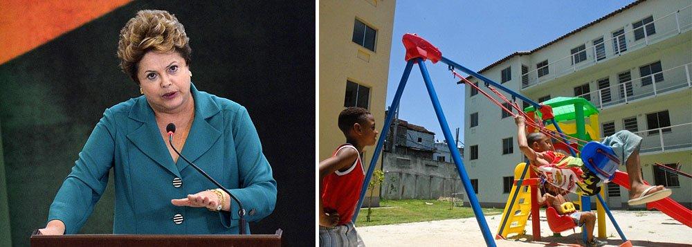 """Segundo a presidente Dilma Rousseff, por meio de parcerias, a Polícia Federal vai apoiar as polícias estaduais nas investigações para impedir e reprimir abusos e crimes; ela lembrou que quem recebe subsídio do governo não pode vender a casa por dez anos: """"Assim, toda compra feita desses proprietários originais, fictícia ou não, é ilegal. E nós, do governo federal, apoiaremos sempre o proprietário original para assegurar o seu direito à moradia"""""""