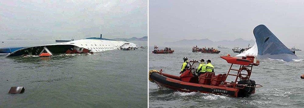 Barco de passageiros carregava 447 pessoas, das quais 164 foram confirmadas como salvas, disse a guarda costeira; duas pessoas tiveram a morte confirmada no acidente ocorrido na costa sudoeste do país