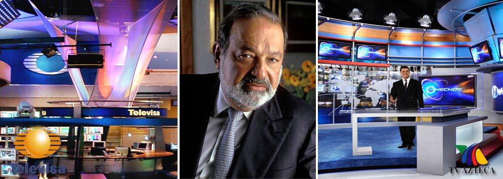 """Governo mexicano toma decisão corajosa: quebrar o duopólio na televisão aberta do país; dominada pela Televisa (70% da audiência) e Azteca (30%), sistema terá concorrência para a instalação de duas novas redes nacionais; homem mais rico do mundo, Carlos Slim, dono da Telmex, está entre os interessados; mas ele também deve restrições por ser """"dominante"""" na telefonia, com mais de 50% do mercado; essa notícia vai passar no Jornal Nacional?"""