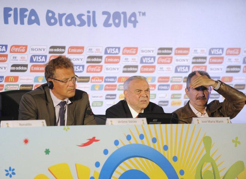 """Declaração foi dada nesta quinta-feira 22 pelosecretário-geral da Fifa, faltando menos de dez meses para o Mundial; segundo Jérôme Valcke,o ótimo resultado da Copa das Confederações """"dá o conforto"""" para dizer que a competição de 2014 será bem-sucedida; em coletiva, odirigente da Fifa também não mostrou preocupação com o estágio atual das obras"""