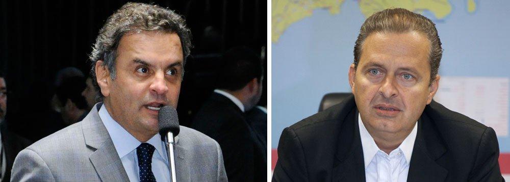 """O presidenciável, Aécio Neves, negou que o PSDB considera a candidatura presidencial do ex-governador de Pernambuco, Eduardo Campos (PSB), como sendo uma """"linha auxiliar do PT"""" na eleição de outubro;""""[Essa declaração] é um equívoco. Pode ser a posição de algum parlamentar, mas não é a posição do PSDB com relação a Eduardo Campos. A minha posição ontem, hoje e no futuro será se enorme respeito pela sua caminhada, trajetória e candidatura"""", disse; declaração vem na esteira de uma nota interna do PSDB que dizia que """"sob o argumento de que poderia se transformar em uma linha auxiliar de Aécio, Eduardo começa a se transformar em uma linha auxiliar do PT"""""""
