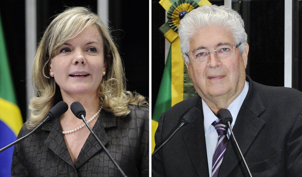 """A senadora Gleisi Hoffmann participa, em Londrina, de plenária regional do PT com o pretexto de comemorar os 34 anos do partido; pré-candidata ao governo do estado, a petista falará à plateia sobre """"Mulher na política: avanços e desafios""""; por sua vez, o senador Roberto Requião (PMDB), igualmente, percorre o trecho; começa o périplo hoje à noite em Cornélio Procópio, na Câmara de Vereadores; neste sábado (8), visita Jacarezinho e Ponta Grossa"""