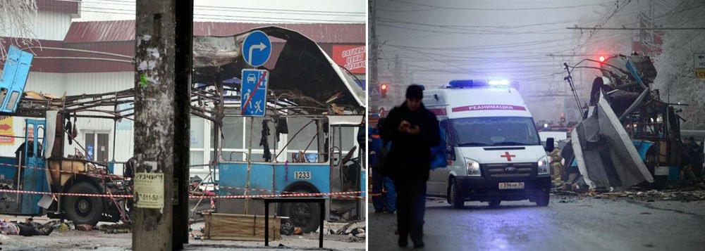 Cinco corpos foram descobertos com marcas de tiros e explosivos na região de Stavropol, uma entrada para o Cáucaso Norte, onde o país enfrenta a insurgência de militantes islâmicos que ameaçam impedir a realização da Olimpíada de Inverno
