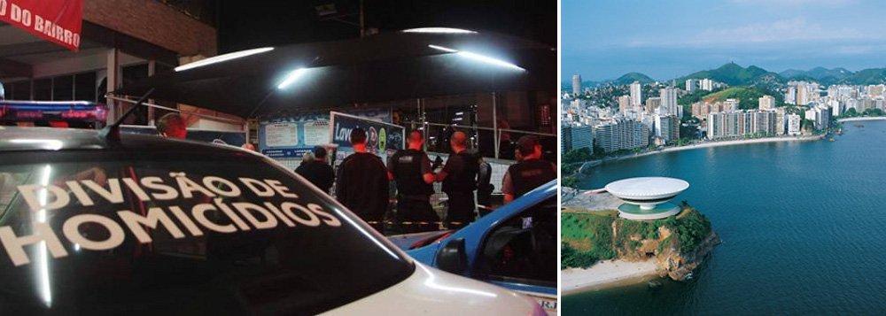 Segundo dados do Instituto de Segurança Pública (ISP), foram registrados 390 homicídios de janeiro a novembro de 2013, aumento de 60% em relação ao período anterior;nesta terça-feira 7, a Polícia Civil instalou a Delegacia de Homicídios de Niterói, que atenderá à demanda de casos de assassinatos da cidade e dos municípios vizinhos de São Gonçalo e Itaboraí, na região metropolitana do Rio
