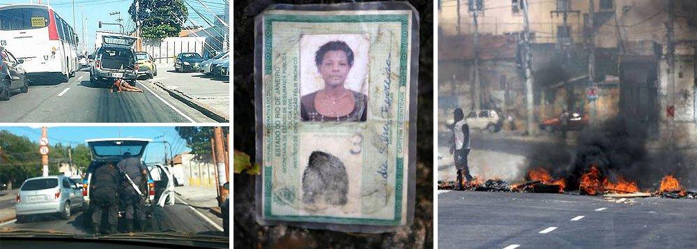O comando do 9º BPM prendeu três policiais que participaram do socorro a Claudia da Silva Ferreira, 38 anos, atingida por um tiro em uma operação na comunidade Congonha, em Madureira; segundo a PM, ela foi encontrada ferida por policiais, e foi colocado dentro da mala da viatura; no caminho para o hospital, o porta-malas se abriu e parte do corpo da moradora foi arrastado, causando mais ferimentos à vítima; Cláudia morreu