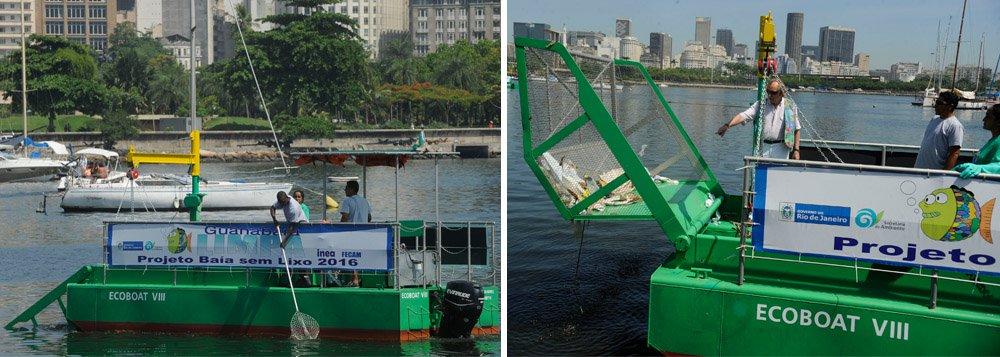 Ao todo, dez embarcações especializadas em recolhimento de lixoforam contratadas pela Secretaria Estadual do Ambientepara limpar a Baía; nesta sexta-feira 3, três ecobarcos começaram a trabalhar