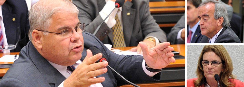 """O vice-líder do PMDB na Câmara, deputado Lúcio Vieira Lima, não ficou satisfeito com as explicações da presidente da Petrobras, Graça Foster, e do ex-diretor da companhia Nestor Cerveró sobre a compra da refinaria de Pasadena; depois de audiência com Ceveró na Câmara ontem (16), Lúcio afirmou que a instalação da CPI da Petrobras """"é cada vez mais urgente""""; """"Ele não se esforçou em explicar as dúvidas, ao contrário, deu explicações mais duvidosas, parecendo que estava a serviço do governo"""""""
