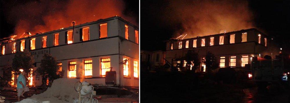 Pelo menos nove pessoas inalaram fumaça e foram encaminhadas ao hospital Annes Dias, em Ibirubá, durante ocorrência; viaturas de municípios vizinhos como Tapera e Quinze de Novembro ajudaram a controlar o fogo