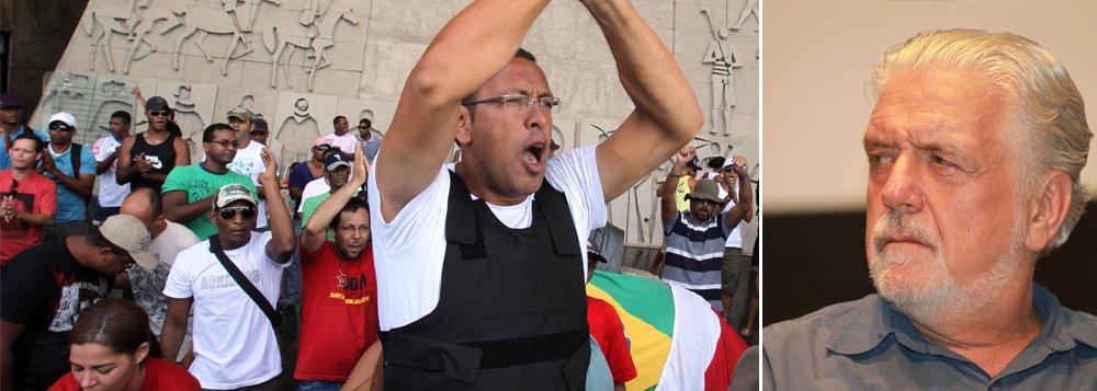 O governador Jaques Wagner revive seu maior pesadelo: a Polícia Militar da Bahia está em greve a partir da noite desta terça-feira por tempo indeterminado; e o líder do movimento, mais uma vez, é Marco Prisco, que comandou os policiais na greve de 2012 e se elegeu vereador de Salvador (um dos mais votados, com mais de 15 mil votos) pelo PSDB nas eleições municipais do mesmo ano