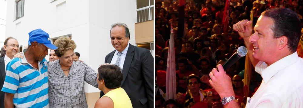 """Tanto o presidenciável pelo PSB, Eduardo Campos, quanto a presidente Dilma Rousseff cumpriram agenda no Rio; enquanto Campos participou de uma palestra na Universidade Estácio de Sá, no bairro de Rio Comprido, Dilma esteve na formatura do Pronatec e na entrega de 720 moradias do programa Minha Casa, Minha Vida, em São Gonçalo; esta é a segunda vez em menos de uma semana que as agendas registram """"coincidências"""" no campo político"""