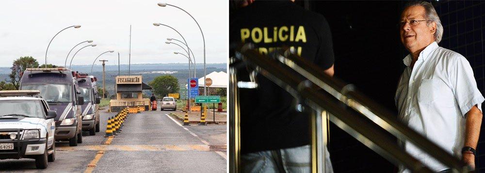 Condenado na AP 470 a regime semiaberto, ex-ministro José Dirceu chega a ficar 22 horas na cela, com direito a 2 horas de banho de sol; mesmo assim, mostra disposição como voluntário para serviços de varrição e limpeza do pátio da prisão