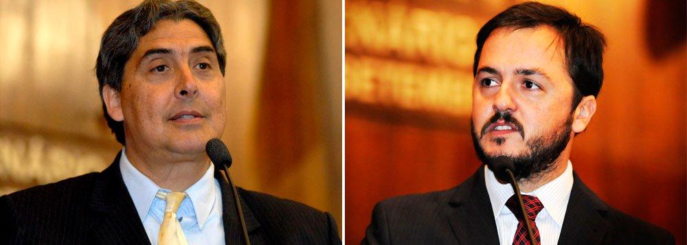O deputado peemedebista Giovani Feltes (à esq) está convicto de que a escolha de Catarina Paladini, do PSB (à dir) para ser o relator da CPI da Energia Elétrica aconteceu dentro do que determina o Regimento Interno da Assembleia Legislativa; Feltes encaminhou à CCJ o seu parecer que é contrário ao requerimento que questionava o voto de minerva do presidente da CPI, Lucas Redecker (PSDB), desempatando a votação em favor do socialista