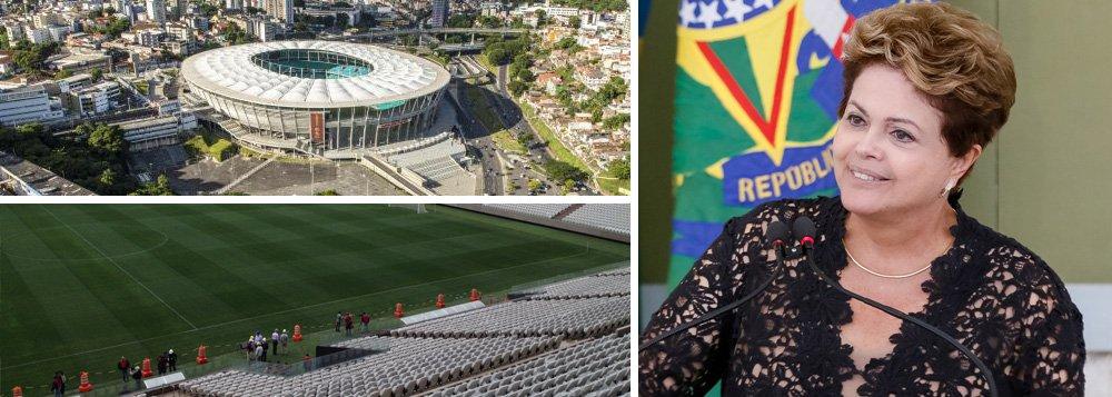 """A 57 dias da Copa do Mundo, presidente afirma que segurança do Mundial está garantida; """"Não há a menor hipótese do governo federal pactuar com qualquer tipo de violência. Não deixaremos em hipótese alguma a Copa ser contaminada"""", discursou Dilma Rousseff, durante reunião do Conselho de Desenvolvimento Econômico e Social; desde o ano passado, protestos questionam o investimento para a Copa e registram violência e vandalismo; """"gostaria muito que todos os brasileiros nos ajudassem a receber [o evento]"""", apelou Dilma"""