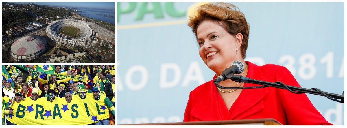 """Presidente defende os gastos das obras para o Mundial e refuta tese de que verba da Educação foi usada para construir estádios; """"Sabe quanto é o orçamento da Educação no Brasil? O orçamento era R$ 18 bilhões (quando Lula assumiu, em 2003). Este ano, o Paim (ministro da Educação) vai executar um orçamento de R$ 112 bilhões. É um absurdo falar que o dinheiro dos estádios compromete e educação no Brasil"""", declarou Dilma, em evento da juventude do PT em Guarulhos, na Grande São Paulo"""