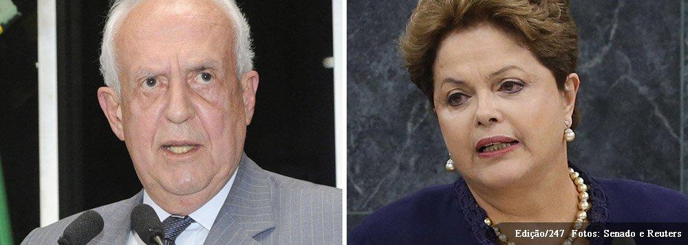 """O senador Jarbas Vasconcelos (PMDB-PE) qualificou como """"altamente decepcionante"""", """"fraco"""" e """"ridículo"""" o pronunciamento da presidente Dilma Rousseff na abertura da Assembleia-Geral da Organização das Nações Unidas (ONU), na manhã desta terça-feira (23), em Nova York; """"Foi um expediente totalmente eleitoreiro, medíocre, que envergonha a história da política externa brasileira"""""""