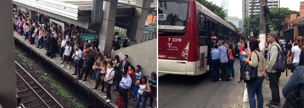 Operação de trens da Linha 9-Esmeralda, que liga a zona sul da capital paulista à zona oeste e à cidade de Osasco, foi afetada por 40 minutos, de acordo com a assessoria de imprensa da Companhia de Trens Metropolitanos (CPTM), houve lentidão em toda a extensão da linha às 7h10