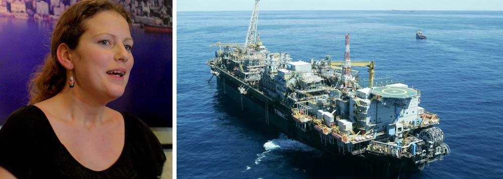 """A ativista brasileira do Greenpeace, Ana Paula Maciel, que ficou presa na Rússia por cem dias, por participar de um protesto contra a exploração de petróleo no Ártico, também se diz contrária à exploração do pré-sal no Brasil; segundo ela, """"é muito profundo, desnecessário"""" e coloca em risco parques marítimos como Abrolhos e Fernando de Noronha; ela também critica as empresas chinesas que fazem parte do consórcio que fará a extração do óleo; discurso alarmista desconsidera avanços da tecnologia e da engenharia do petróleo, além de não levar em conta os dividendos de investimentos para saúde e educação que serão gerados pelo pré-sal"""