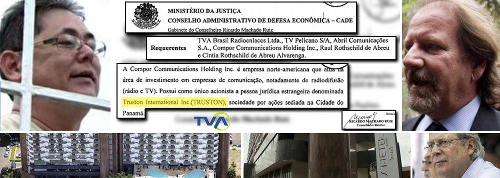 EXCLUSIVO _ Documentos oficiais obtidos pelo 247 mostram que Grupo Abril vendeu operação da TVA em São Paulo, Rio de Janeiro e Curitiba para o mesmo grupo estrangeiro que comprou, em Brasília, o hotel Saint Peter; a Compor, que arrematou as concessões de tevê de Giancarlo Civita, é controlada pela Truston, panamenha; a Truston tem como auxiliar José Euguenio Silva Ritter (à esq.), que vem a ser o 'proprietário' do hotel que ofereceu emprego para José Dirceu, ex-presidente do PT; conexão Panamá tem mesmo coloração ideológica ou é apenas um atalho comercial legalizado?; politização da normalidade; fac-similes