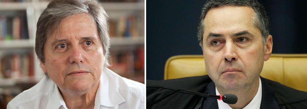 """Jornalista da Istoé, Paulo Moreira Leite, """"diz que na primeira oportunidade, num julgamento que irá ter influência sobre as instâncias inferiores do judiciário e terá consequências terríveis para cidadãos que podem ter sido vítimas de uma injustiça, o ministro Luís Roberto Barroso alega que não iria """"revirar um julgamento que consumira mais de 50 sessões deste plenário""""""""; diz ainda quevoto alinhado a Joaquim Barbosa """"decepcionou advogados e mestres do Direito que, confiando nos pontos de vista que Barroso defendeu publicamente ao longo de sua vida de jurista muito respeitado"""""""