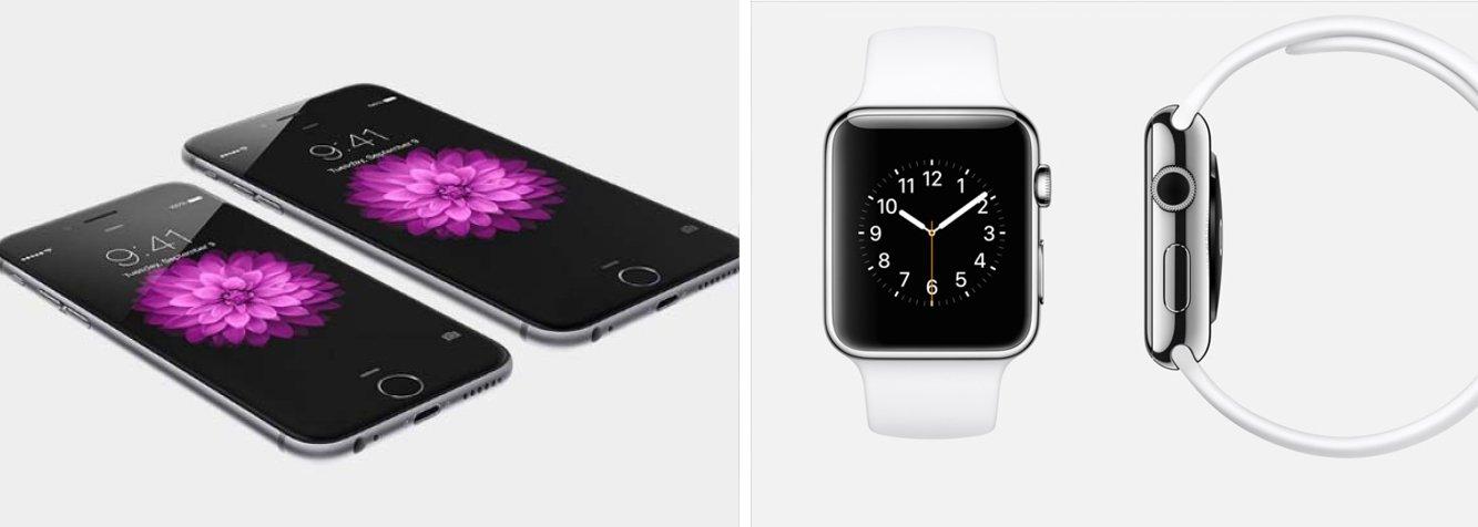 """Companhia lançou nesta terça-feira seu relógio inteligente """"Apple Watch"""" junto a dois novos iPhones com telas maiores e de maior definição, considerando os aparelhos como novo capítulo da história da empresa"""
