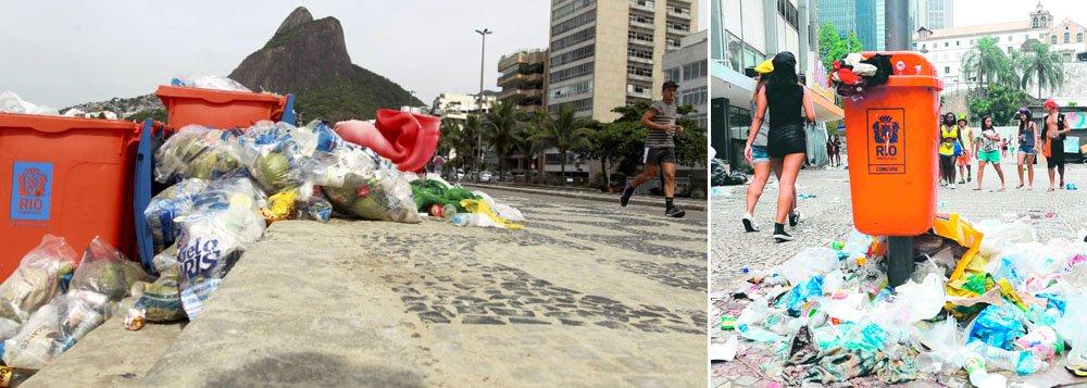 Dois dias depois do fim da greve dos garis, na cidade do Rio de Janeiro, a cidade começa a voltar ao normal; ao contrário dos bairros do centro e da zona sul, considerados mais nobres, que já estão limpos, a coleta permanece irregular na zona norte; em alguns bairros o lixo se acumula desde o carnaval, na porta das casas, e provoca transtornos
