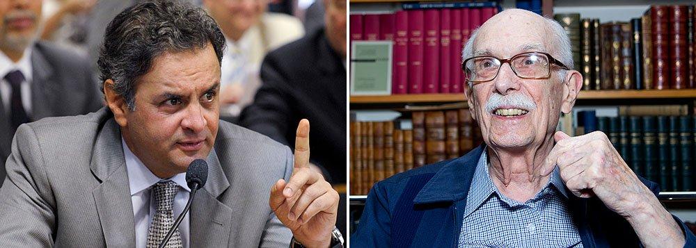 """Senador mineiro e líder do PSDB diz que professor é referência de idoneidade intelectual, espírito cívico e dignidade pessoal. """"Sua obra atesta o compromisso radical com a compreensão da realidade à sua volta"""", afirma"""