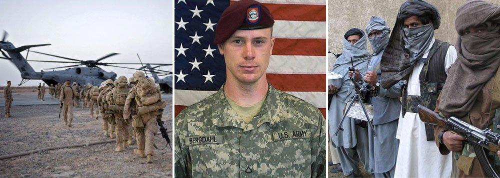 Os Estados Unidos anunciaram a libertação de um soldado norte-americano sequestrado no Afeganistão há quase cinco anos, e a transferência de cinco presos de Guantánamo para o Qatar, intermediário na negociação; osargento Bowe Bergdahlfoi capturado pelos talibãs em 30 de junho de 2009, no Afeganistão, após separar-se de sua unidade