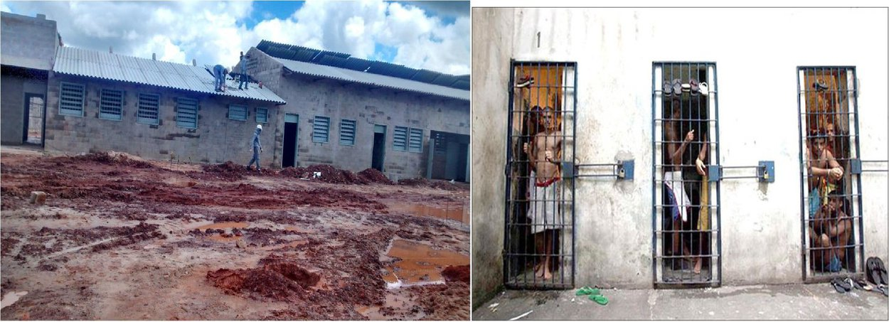 Estudo divulgado pelo Conselho Nacional de Justiça (CNJ) aponta o estado como um dos quatro estados com menores déficits de vagas no sistema penitenciário; em comparação a outros estados, o Maranhão tem déficit muito menor que os de São Paulo (90.448 vagas), Minas Gerais (21.400) e Pernambuco (21.193), por exemplo; com a construção de duas unidades prisionais São Luis III (foto) e de Coroatá serão abertas mais 700 vagas, sanando o déficit apontado no levantamento do CNJ; a compilação de dados foi feita pelo Departamento de Monitoramento e Fiscalização do Sistema Carcerário e do Sistema de Execução de Medidas Socioeducativas (MDF)