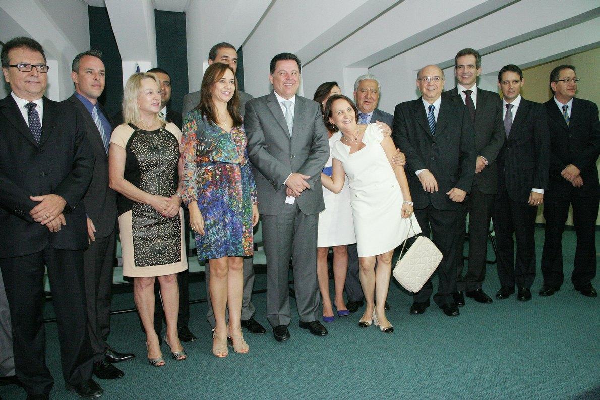 Governador empossa novos Secret�rios no Pal�cio Pedro Ludovico Teixeira. 1� de Janeiro de 2014, fotos: Walter Alves.