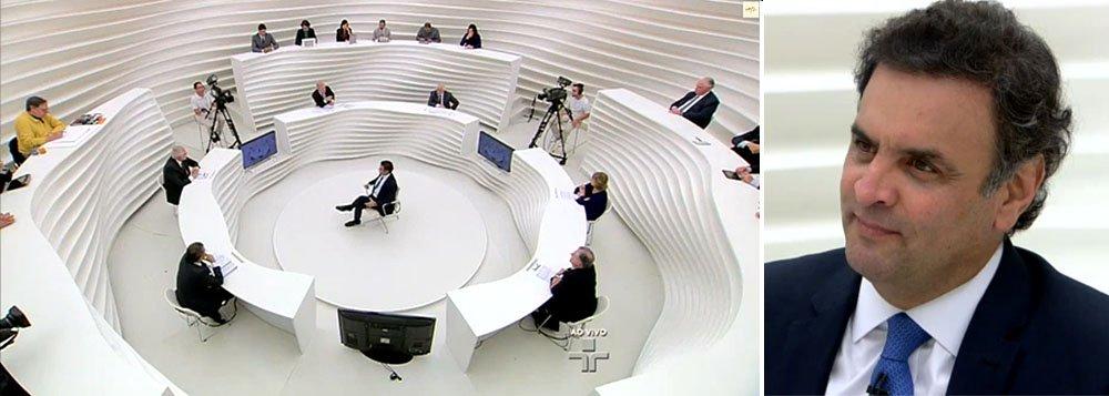"""Em entrevista no programa Roda Viva, da TV Cultura, o presidenciável tucano Aécio Neves disse que espera encontrar na disputa eleitoral """"todo tipo de leviandade e acusações. Essa guerrilha vai continuar"""": """"Jamais [fui usuário de cocaína]. Os que me conhecem vêm me reelegendo há 30 anos. Não conseguem dizer que sou desonesto, que sou incompetente. Têm de dizer alguma coisa""""; sobre suas promessas de governo, reafirma continuidade dos programas do PT Mais Médicos e Bolsa Família, porém com alterações, e descarta a descriminalização da maconha"""